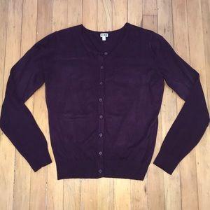14 & Union Purple Cardigan